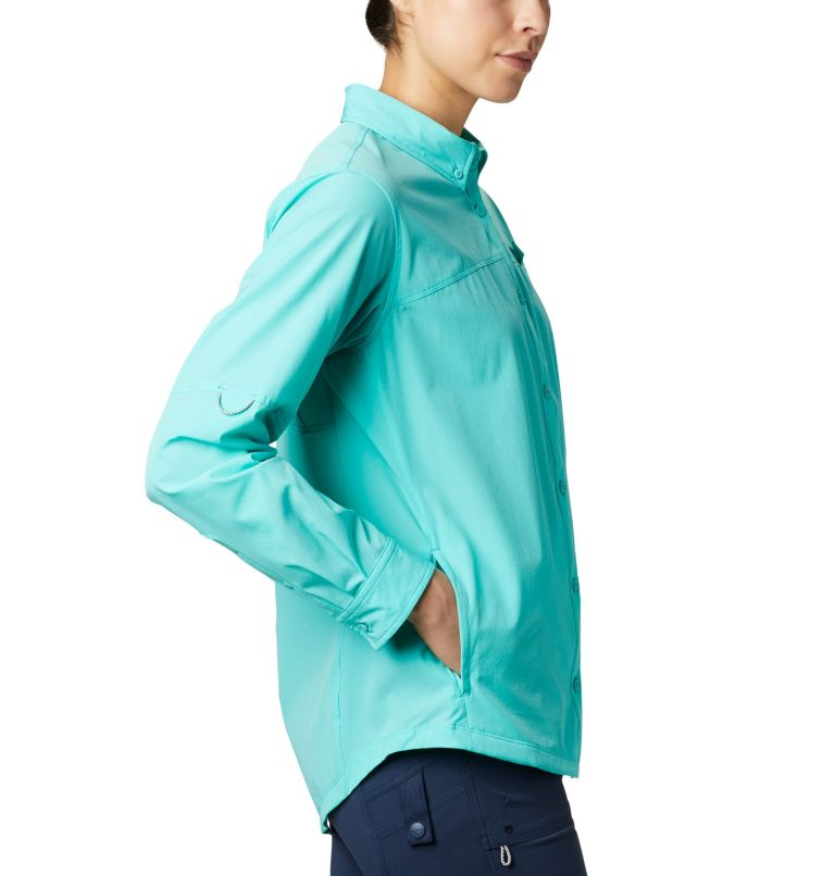 Coral Point™ LS Woven | 356 | L Women's Coral Point™ Long Sleeve Woven Shirt, Dolphin, a1