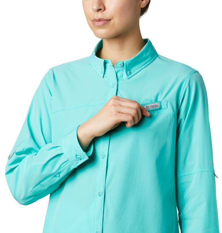Coral Point™ LS Woven | 356 | L Women's Coral Point™ Long Sleeve Woven Shirt, Dolphin, a2