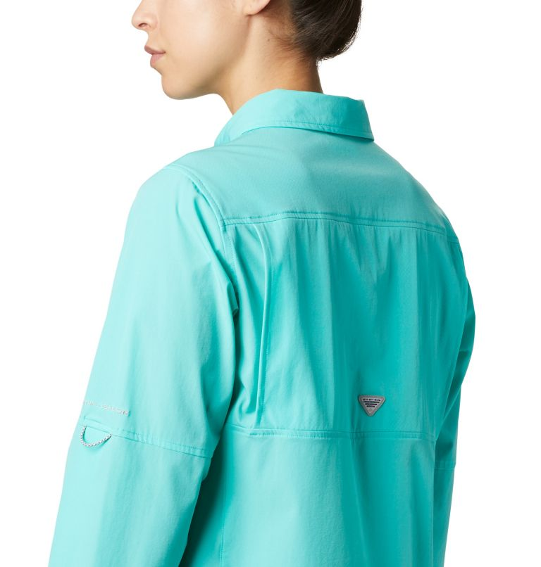 Coral Point™ LS Woven | 356 | L Women's Coral Point™ Long Sleeve Woven Shirt, Dolphin, a3