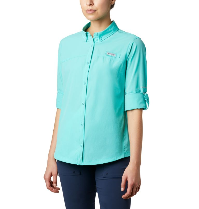 Coral Point™ LS Woven | 356 | L Women's Coral Point™ Long Sleeve Woven Shirt, Dolphin, a4