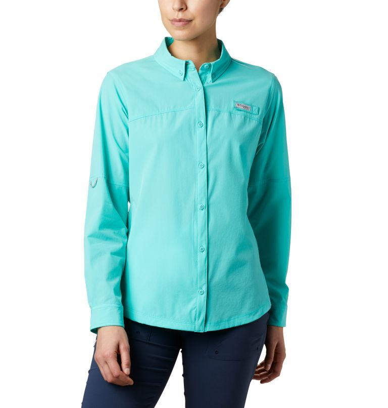 Coral Point™ LS Woven | 356 | L Women's Coral Point™ Long Sleeve Woven Shirt, Dolphin, front