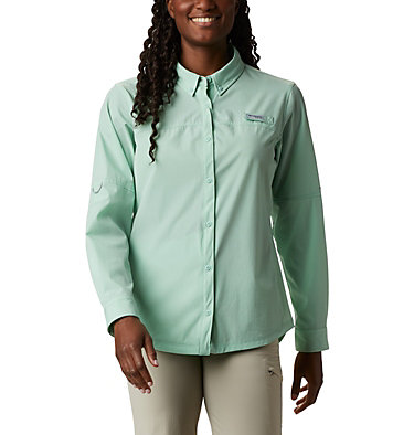 Women's Coral Point™ Long Sleeve Woven Shirt Coral Point™ LS Woven | 658 | L, New Mint, front