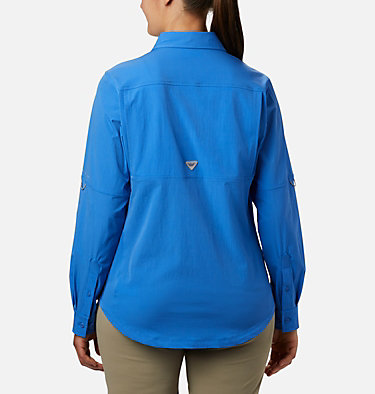 Women's Coral Point™ Long Sleeve Woven Shirt Coral Point™ LS Woven | 658 | L, Stormy Blue, back