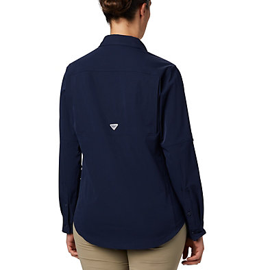 Women's Coral Point™ Long Sleeve Woven Shirt Coral Point™ LS Woven | 658 | L, Collegiate Navy, back