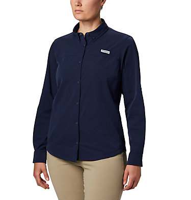 Women's Coral Point™ Long Sleeve Woven Shirt Coral Point™ LS Woven | 658 | L, Collegiate Navy, front