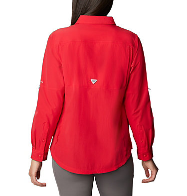 Women's Coral Point™ Long Sleeve Woven Shirt Coral Point™ LS Woven | 658 | L, Red Lily, back