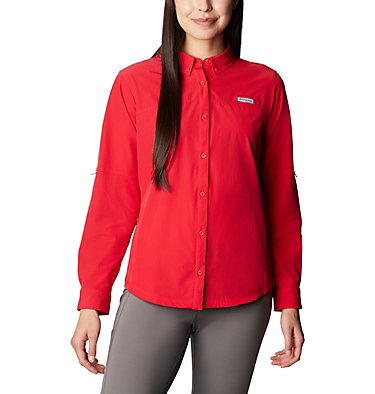 Women's Coral Point™ Long Sleeve Woven Shirt Coral Point™ LS Woven | 658 | L, Red Lily, front