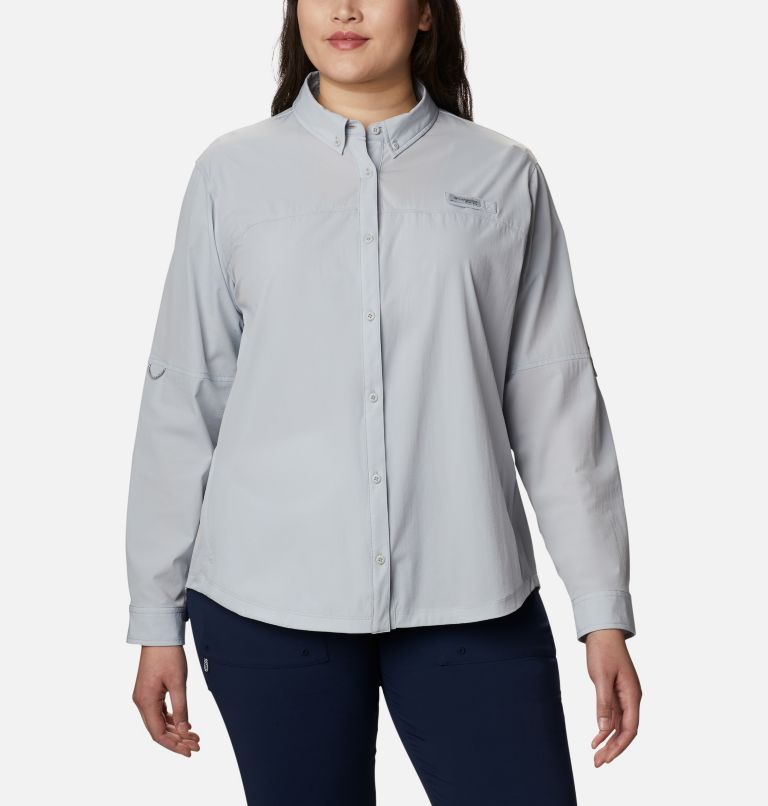 Women's Coral Point™ Long Sleeve Woven Shirt – Plus Size Women's Coral Point™ Long Sleeve Woven Shirt – Plus Size, front