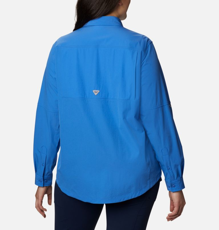 Women's Coral Point™ Long Sleeve Woven Shirt – Plus Size Women's Coral Point™ Long Sleeve Woven Shirt – Plus Size, back