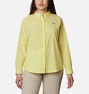 Women's Coral Point™ Long Sleeve Woven Shirt – Plus Size Coral Point™ LS Woven | 658 | 1X, Sunnyside, front