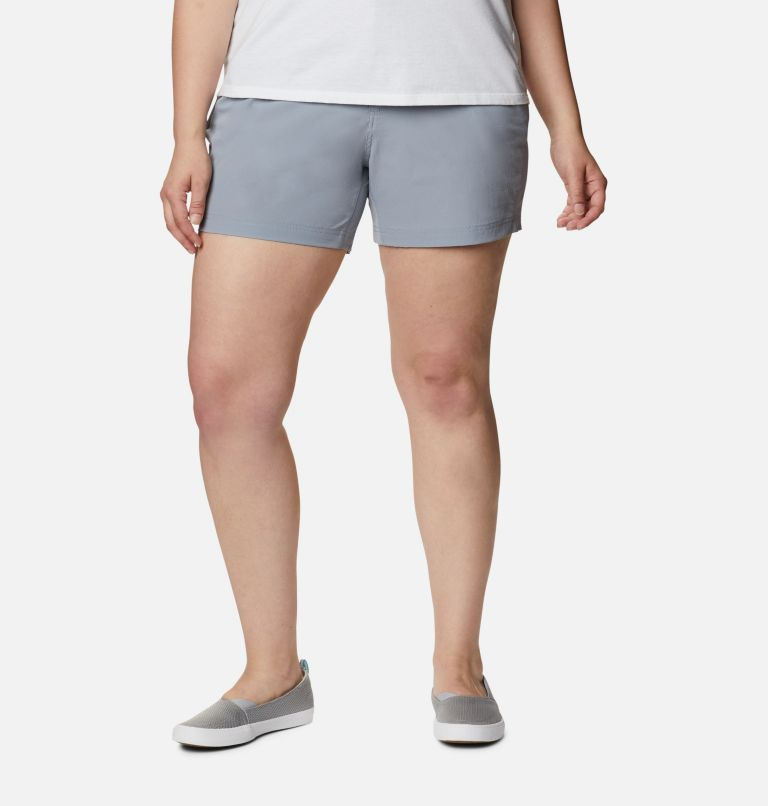 Coral Point™ III Short | 032 | 20W Women's Coral Point™ III Shorts - Plus Size, Tradewinds Grey, front