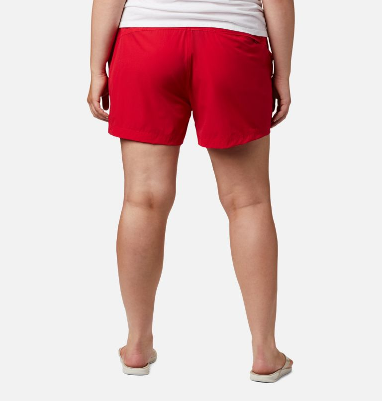 Coral Point™ III Short | 658 | 18W Women's Coral Point™ III Shorts - Plus Size, Red Lily, back