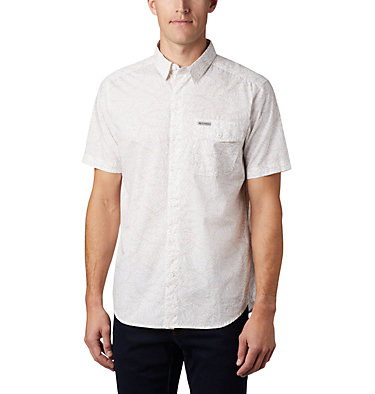 Men's Summer Chill™ Short Sleeve Shirt M Summer Chill™ SS Shirt | 427 | L, White Wispy Bamboo, front
