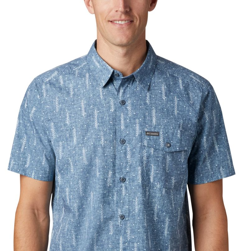 M Summer Chill™ SS Shirt | 427 | L Men's Summer Chill™ Short Sleeve Shirt, Sky Blue Trees, a2