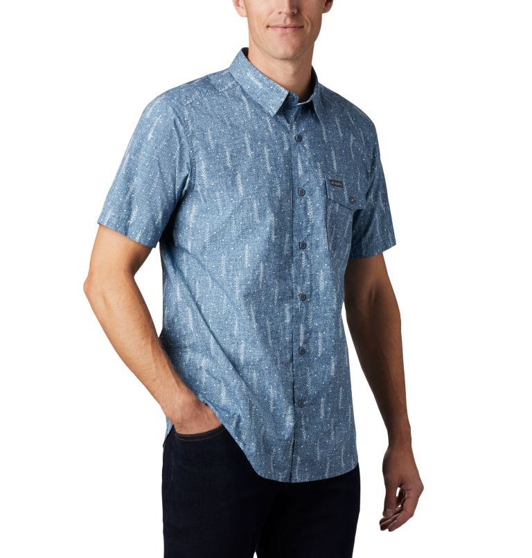 M Summer Chill™ SS Shirt | 427 | L Men's Summer Chill™ Short Sleeve Shirt, Sky Blue Trees, a3