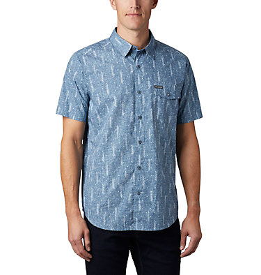 Men's Summer Chill™ Short Sleeve Shirt M Summer Chill™ SS Shirt | 427 | L, Sky Blue Trees, front