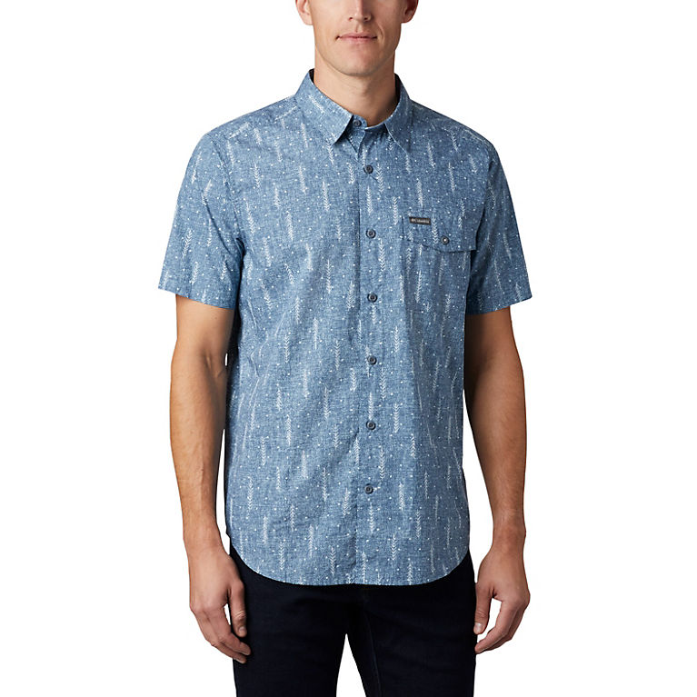 Sky Blue Trees Men's Summer Chill™ Short Sleeve Shirt, View 0