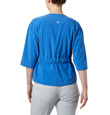 Women's PFG Armadale™ 3/4 Sleeve Wrap Armadale™ 3/4 Sleeve Wrap | 356 | L, Stormy Blue, back