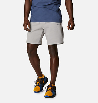 Men's Columbia™ Logo Fleece Shorts M Columbia™ Logo Fleece Short | 464 | XXL, Columbia Grey Heather, front