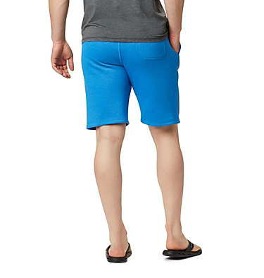 Men's Columbia™ Logo Fleece Shorts M Columbia™ Logo Fleece Short | 463 | L, Azure Blue Heather, back