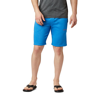 Men's Columbia™ Logo Fleece Shorts M Columbia™ Logo Fleece Short | 463 | L, Azure Blue Heather, front