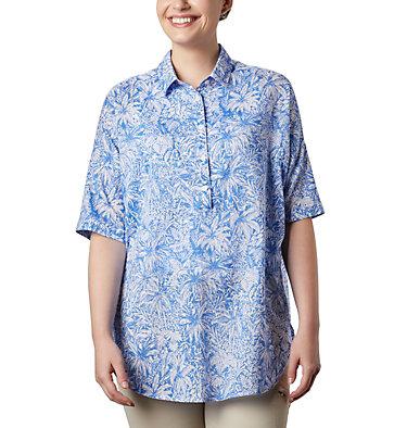 Women's PFG Sun Drifter™ 3/4 Sleeve Tunic Sun Drifter™ 3/4 Sleeve Tunic | 468 | L, Stormy Blue Wilderness Print, front