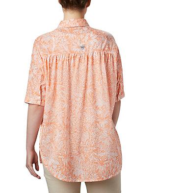Women's PFG Sun Drifter™ 3/4 Sleeve Tunic Sun Drifter™ 3/4 Sleeve Tunic | 468 | L, Tiki Pink Wilderness Print, back
