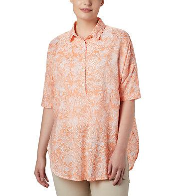 Women's PFG Sun Drifter™ 3/4 Sleeve Tunic Sun Drifter™ 3/4 Sleeve Tunic | 468 | L, Tiki Pink Wilderness Print, front