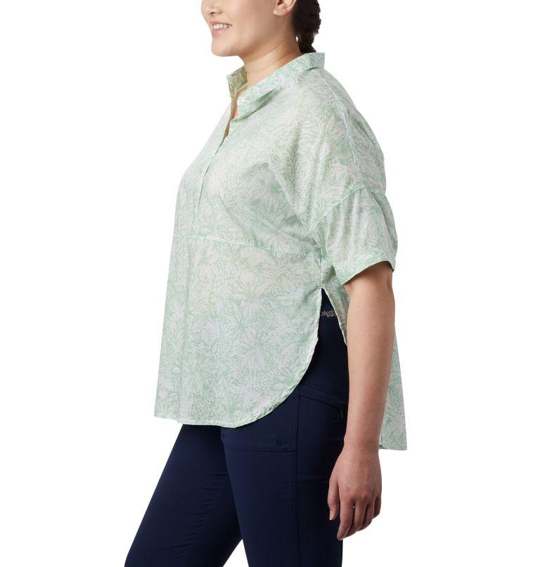 Sun Drifter™ 3/4 Sleeve Tunic | 386 | 3X Women's PFG Sun Drifter™ 3/4 Sleeve Tunic – Plus Size, New Mint Wilderness Print, a1
