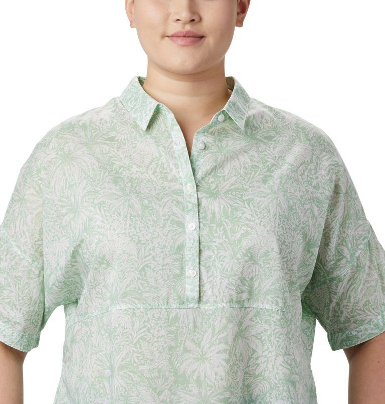 Sun Drifter™ 3/4 Sleeve Tunic | 386 | 3X Women's PFG Sun Drifter™ 3/4 Sleeve Tunic – Plus Size, New Mint Wilderness Print, a2