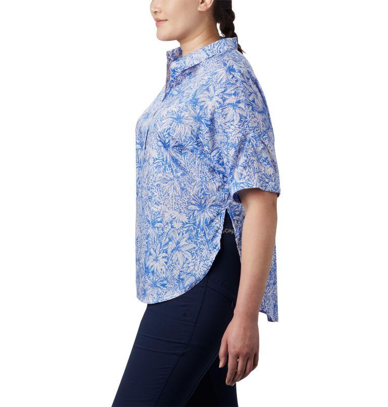 Sun Drifter™ 3/4 Sleeve Tunic | 427 | 2X Women's PFG Sun Drifter™ 3/4 Sleeve Tunic – Plus Size, Stormy Blue Wilderness Print, a1