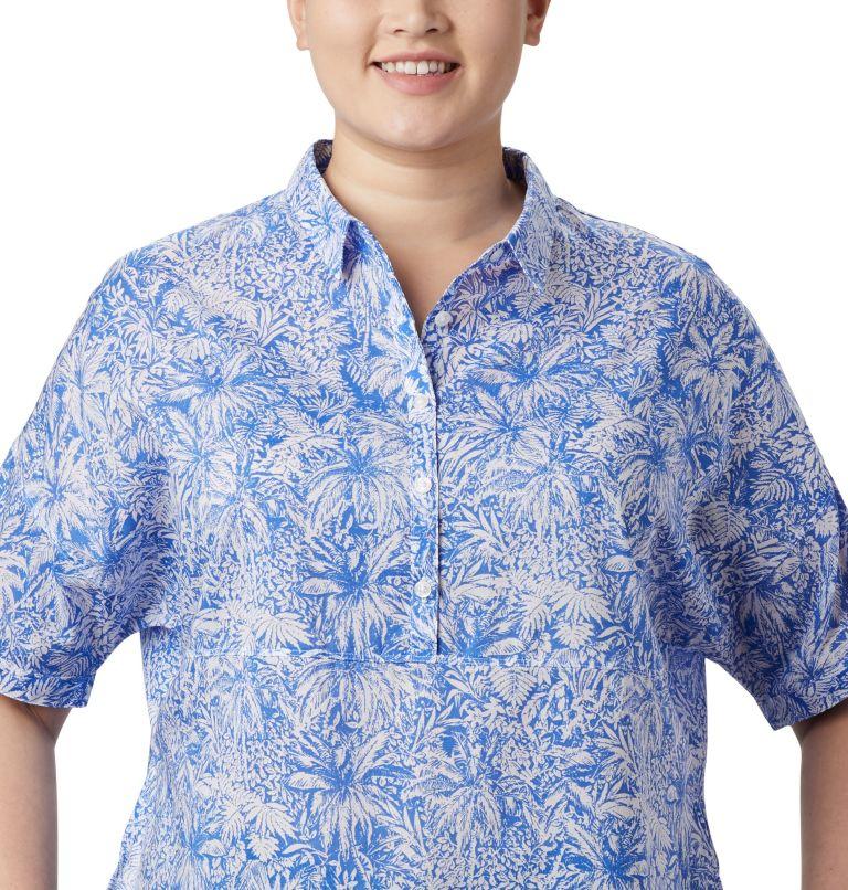 Sun Drifter™ 3/4 Sleeve Tunic | 427 | 2X Women's PFG Sun Drifter™ 3/4 Sleeve Tunic – Plus Size, Stormy Blue Wilderness Print, a2