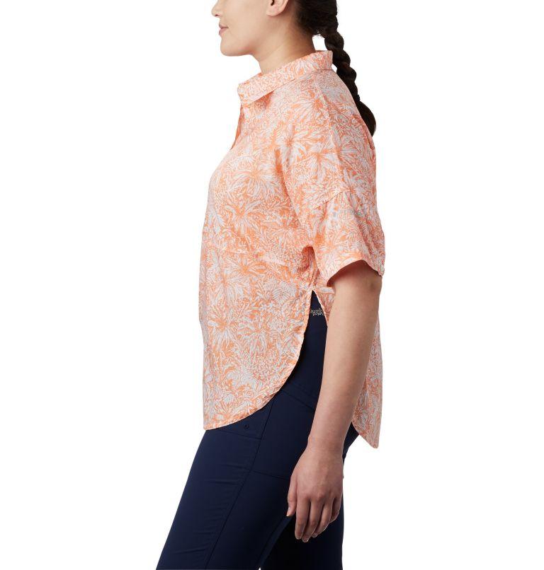 Sun Drifter™ 3/4 Sleeve Tunic | 808 | 3X Women's PFG Sun Drifter™ 3/4 Sleeve Tunic – Plus Size, Tiki Pink Wilderness Print, a1