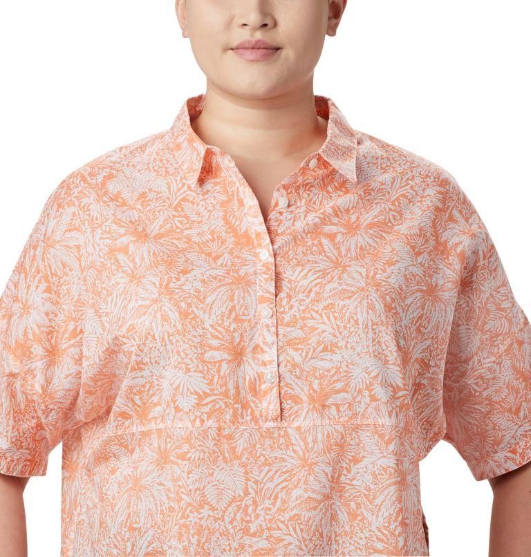 Sun Drifter™ 3/4 Sleeve Tunic | 808 | 3X Women's PFG Sun Drifter™ 3/4 Sleeve Tunic – Plus Size, Tiki Pink Wilderness Print, a2