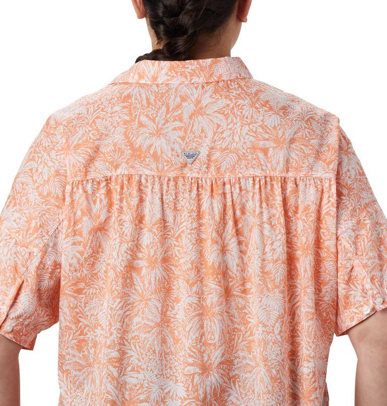 Sun Drifter™ 3/4 Sleeve Tunic | 808 | 3X Women's PFG Sun Drifter™ 3/4 Sleeve Tunic – Plus Size, Tiki Pink Wilderness Print, a3