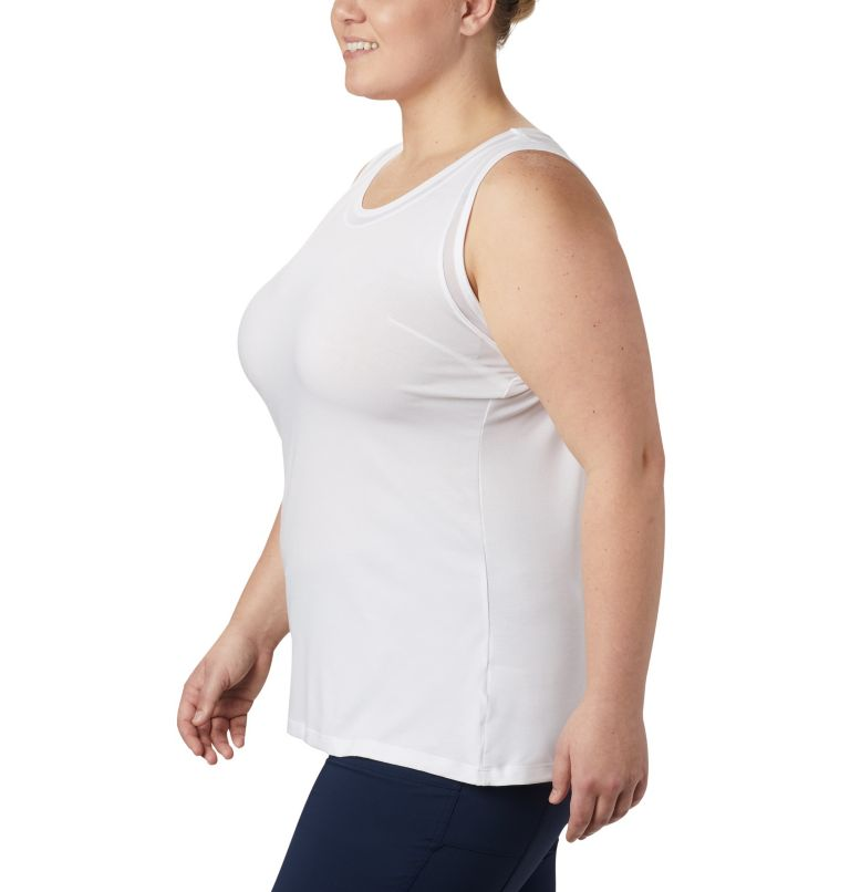 Slack Water™ Knit Tank | 100 | 1X Women's PFG Slack Water™ Knit Tank – Plus Size, White, a1
