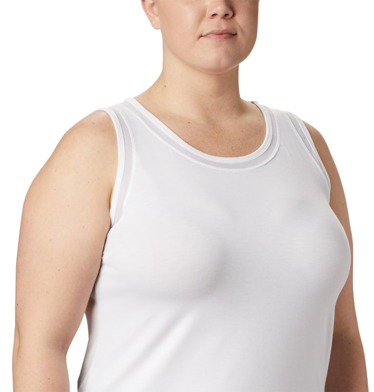 Slack Water™ Knit Tank | 100 | 1X Women's PFG Slack Water™ Knit Tank – Plus Size, White, a3