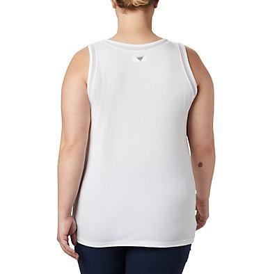 Women's PFG Slack Water™ Knit Tank – Plus Size Slack Water™ Knit Tank | 100 | 3X, White, back