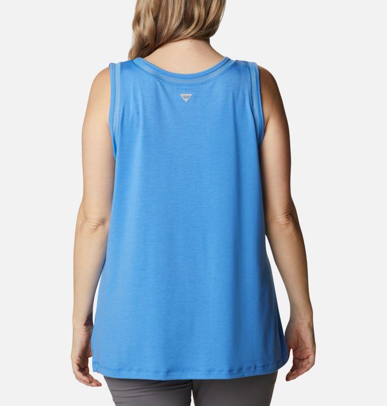 Slack Water™ Knit Tank   485   1X Women's PFG Slack Water™ Knit Tank – Plus Size, Harbor Blue, back