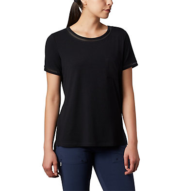 T-shirt pochette en tricot PFG Slack Water™ pour femme Slack Water™ Knit Pocket Tee | 010 | L, Black, front