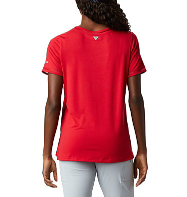 T-shirt pochette en tricot PFG Slack Water™ pour femme Slack Water™ Knit Pocket Tee | 010 | L, Red Lily, back