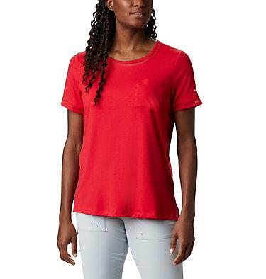 T-shirt pochette en tricot PFG Slack Water™ pour femme Slack Water™ Knit Pocket Tee | 010 | L, Red Lily, front