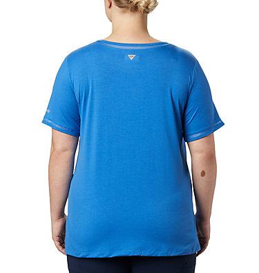 Women's PFG Slack Water™ Knit Pocket Tee – Plus Size Slack Water™ Knit Pocket Tee | 426 | 1X, Stormy Blue, back