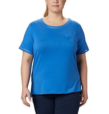 T-shirt pochette en tricot PFG Slack Water™ pour femme – Grandes tailles Slack Water™ Knit Pocket Tee | 426 | 1X, Stormy Blue, front