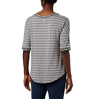 Haut à manches 3/4 en tricot PFG Slack Water™ pour femme Slack Water™ Knit 3/4 Sleeve | 465 | L, City Grey Stripe, back