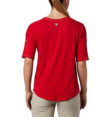 Women's Water™ Knit 3/4 Sleeve Slack Water™ Knit 3/4 Sleeve | 465 | L, Red Lily, back