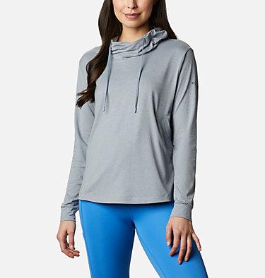 Women's PFG Slack Water™ Knit Hoodie Slack Water™ Knit Hoodie   463   L, Tradewinds Grey Heather, front