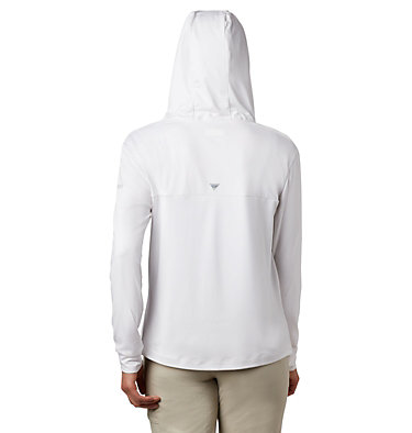 Women's PFG Slack Water™ Knit Hoodie Slack Water™ Knit Hoodie   463   L, White Heather, back