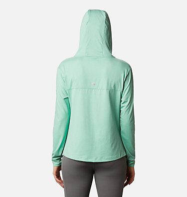 Women's PFG Slack Water™ Knit Hoodie Slack Water™ Knit Hoodie   463   L, Kelp Heather, back