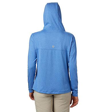 Women's PFG Slack Water™ Knit Hoodie Slack Water™ Knit Hoodie   463   L, Stormy Blue Heather, back